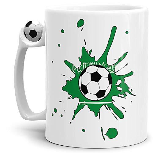 Tassendruck Flaggen-Tasse Zum Fussball Saudi-Arabien Arabien Fussball-Tasse - Weltmeisterschaft/WM/Mug/Cup/Tor/Qualität Made in Germany
