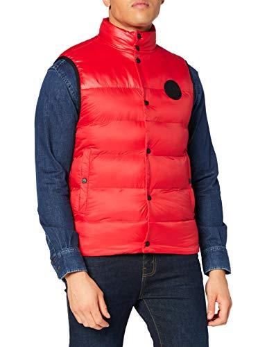 HUGO Mens Baltino2041 Down Vest, Open Pink (693), L