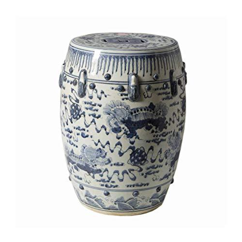 Jingdezhen keramische stoel met de hand beschilderd blauw en wit leeuw kruk Hydrangea porselein pier geborduurd pier drum kruk make-up voor thuis, hotel, winkel