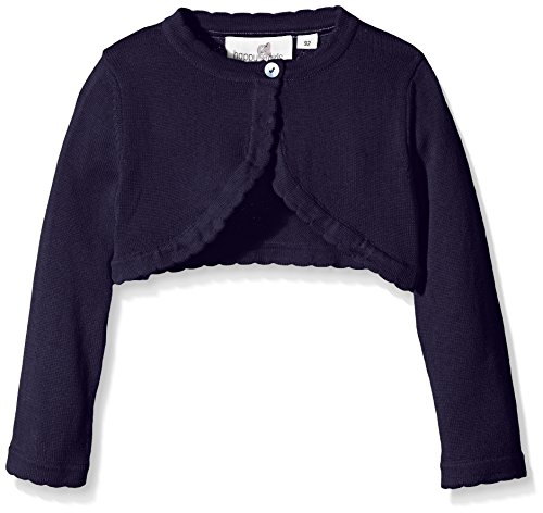 Happy Girls Mädchen Strickjacke Basic Bolero, Einfarbig, Gr. 128, Blau (navy 62)