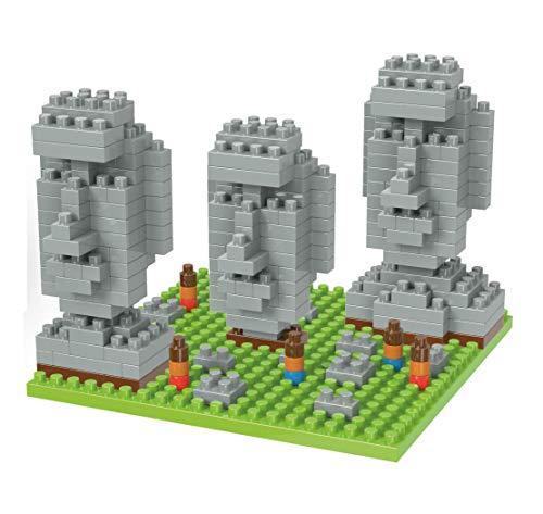Wise Hawk Statuen der Osterinsel. Architekturreproduktion zum Bauen mit Nanoblöcken