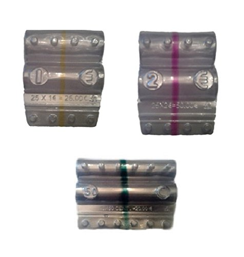 Blister per monete euro - Kit 180 blister portamonete misti da 1 euro, 2 euro e 50 centesimi (3 x 60) + omaggio