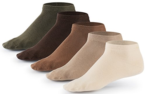 Mat & Vic's Sneaker Socken, 10 Paar, Cotton classic, Oeko-Tex Standard 100, Earth Colors, 43-46