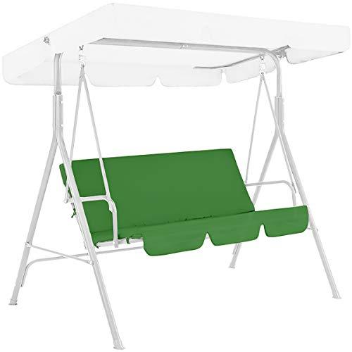 HelloCreate Funda para asiento de columpio, hamaca de jardín con 3 asientos, cubierta impermeable de protección 150 x 110 x 10 cm, verde (columpio no incluido)