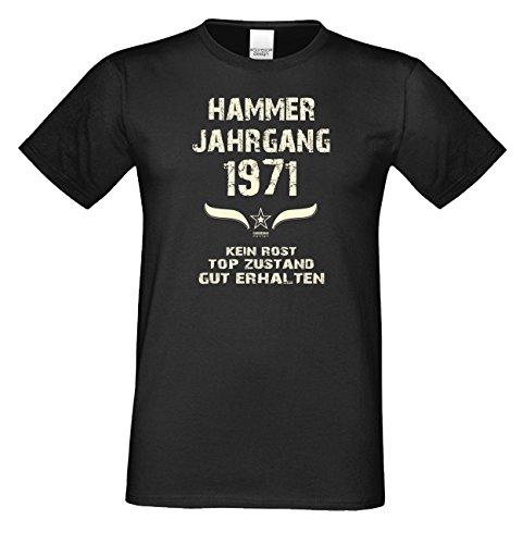 Geschenk-Set für Männer :: Hammer Jahrgang 1971 : Herren Fun T-Shirt : Geschenkidee zum 49. Geburtstag : Geburtstagsgeschenk Farbe: schwarz Gr: 3XL