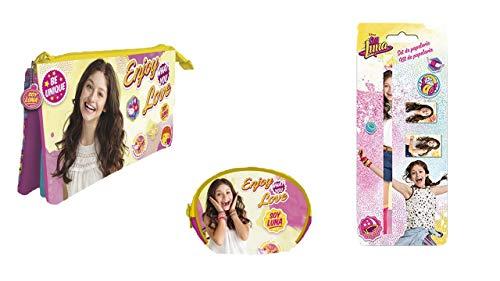 9951, Pack Disney Soy Luna, Compuesto por Monedero Soy Luna; portatodo Triple Soy Luna; y Set utiles Escolares Soy Luna