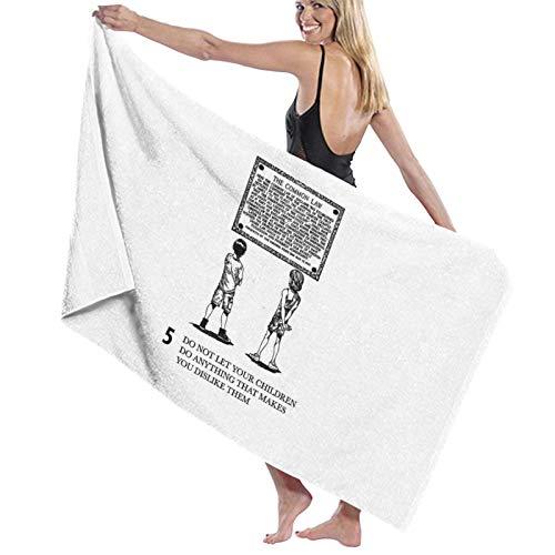 U/K Dr Jordan B Peterson – Regla 5 – No dejes que tus hijos hagan cualquier cosa que te haga dislikie Them toalla de baño de secado rápido