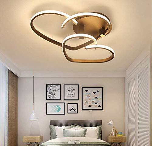 WHL Deckenleuchte LED Schlafzimmerleuchte Dimmbar Modern Deckenlampe Chic Liebe Design Kronleuchter Mit Fernbedienung Acryl-Schirm Kinderzimmer Mädchenzimmer Kronleuchter Flurdeko Hängelampe