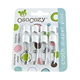 OsoCozy Diaper Pins - {White} - Sturdy, Stainless Steel Diaper...