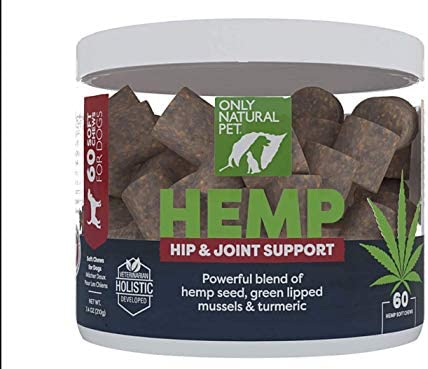 Only Natural Pet Hip Joint Hemp Soft Chews with Turmeric Green Lipped Mussels Hip Joint Supplement product image