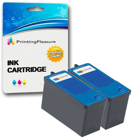 2 COLOUR Remanufactured Printer Ink Cartridges for Dell 725, All-In-One 810 | Replacement for Dell Series 6 (JF333)