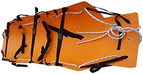 BGSFF Emergency Rescue Stretcher, tragbare Trage mit Aufbewahrungsbeuteln für verwundete und kranke Transport-Orange