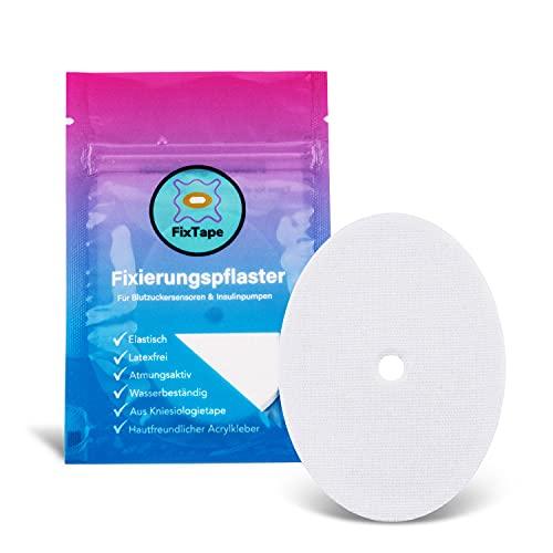 FixTape atmungsaktives Sensor-Tape für Freestyle Libre 1 & 2 I selbstklebendes Patch für Glukose-Sensor mit hohem Trage-Komfort I hautfreundlich und wasserfest in modernen Designs I 7 Stück (Weiss)