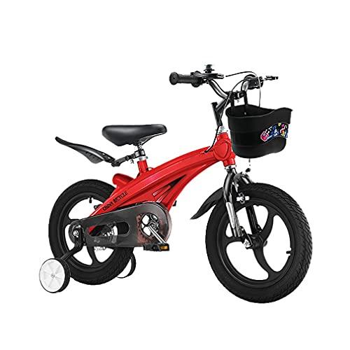 DHMKL 14 Pulgadas Bici Infantiles Bicicletas NiñOs Bicicletas con Ruedas Entrenamiento Ruedas Integradas AleacióN Magnesio Bicicletas Ligeras para NiñOs Adecuado para NiñOs 2 A 6 AñOs