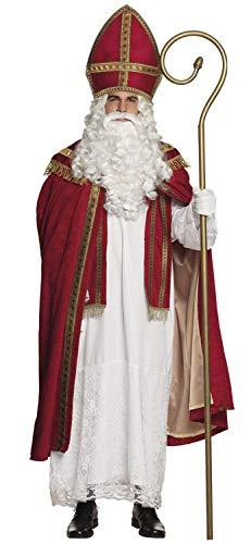 Boland 56840 - kostuum Sankt Sinterklaas, maat L/XL, gewaad, cape en muts, kerstman, geschenk, Kerstmis, kostuum, carnaval, themafeest
