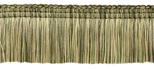 DÉCOPRO Empress Collection Lush 51mm Brush Fringe Trim|Loden Green, Harvest Gold, Dark Sand|Style#: 0200EMPB|Color: Lichen - W126|Sold by The Yard (91cm / 3 Ft / 36"|500|226|?|en|2|0c4b78ad81c547c06251155c0ecc5feb|False|UNLIKELY|0.3610221743583679