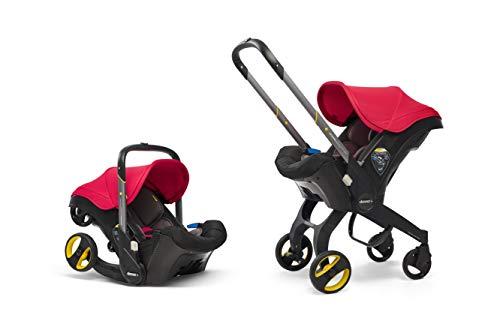 Doona+ 0+ Kindersitz - Von Autositz zum Buggy in Sekundenschnelle [0-15 Monate] (Flame Red/rot)