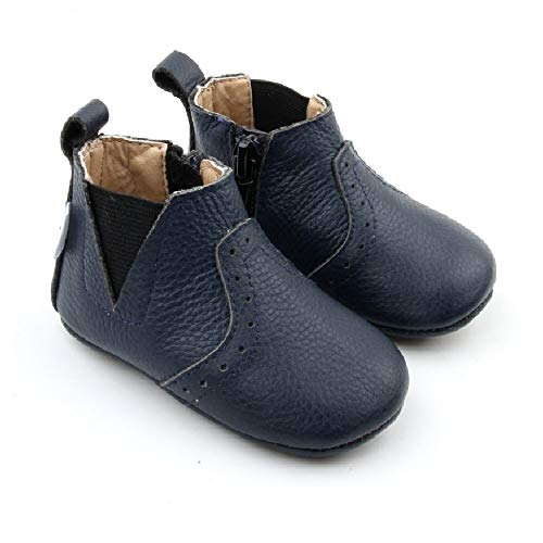 Baby Boots Premium Leather Baby Chelsea Boots Infant, Baby, Toddler Boots for Boys and Girls Baby Booties (5 (5.3