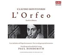 『オルフェオ』(ヒンデミット校訂・編曲版) ヒンデミット&ウィーン・コンツェントゥス・ムジクス(1954 モノラル)(2CD)