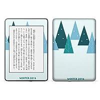 igsticker kindle paperwhite 第4世代 専用スキンシール キンドル ペーパーホワイト タブレット 電子書籍 裏表2枚セット カバー 保護 フィルム ステッカー 016065 クリスマス ツリー 冬