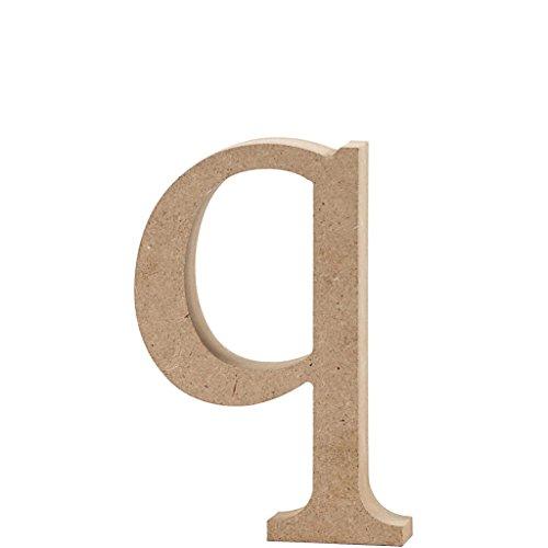 Lettre, h: 12,2 cm, MDF, q, 1 pièce