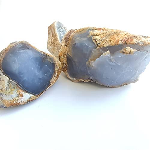 DFGDFG Natural Azul Calcedonia Águila Minnerales Joyas Procesamiento Decoración para el hogar Cristales minerales Meditación Piedras (Color : Green, Size : Random)