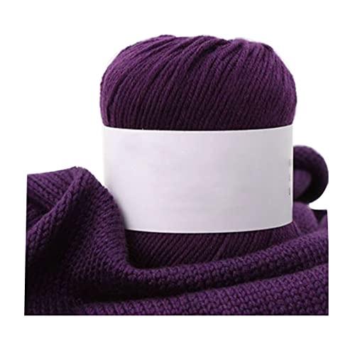 Hilo de Hilo Grueso Hilado de Ganchillo 50g Hilo de algodón para Tejer 4 8 10 o 20 Rollos de Color...