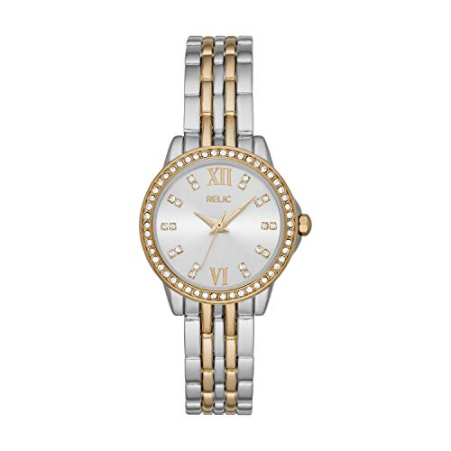 Relic by Fossil Women's Sydney Quartz Watch with Alloy Strap, Two Tone, 12 (Model: ZR34584)