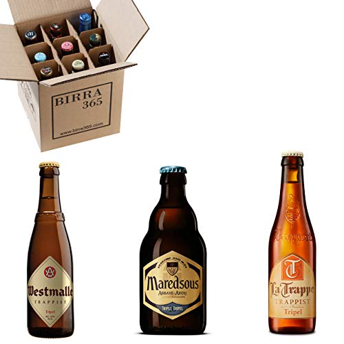Caja degustación 9 cervezas de abadía y trapenses estilo Tripel. Cervezas especiales para cerveceros que buscan la máxima calidad.