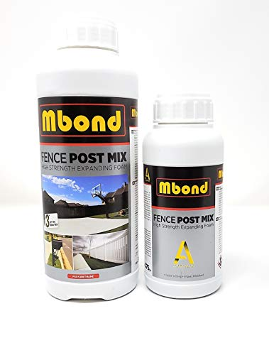 Mbond Post Fix Foam, 1 Post Setting Kit, Fast and Strong Concrete Alternative.
