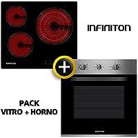 Pack Horno + VITROCERAMICA INFINITON (Placa Encimera mas Horno multifuncion, Pack Ahorro) (VITRO + Horno)