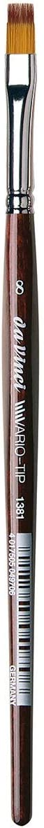 5587-10 da Vinci Watercolor Series 5587 CosmoTop Spin Paint Brush Slant Liner Synthetic with Red Handle Size 10