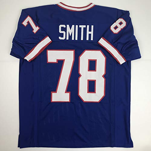 Unsigned Bruce Smith Buffalo Blue Custom Stitched Football Jersey Size Men's XL New No Brands/Logos