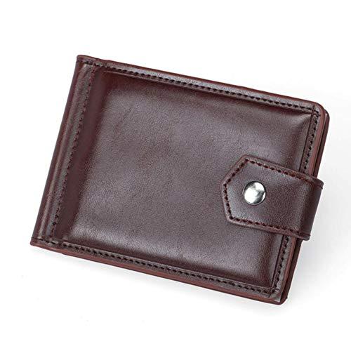 USNASLM Billetera de cuero para hombres pequeños con monedero clip de dinero...