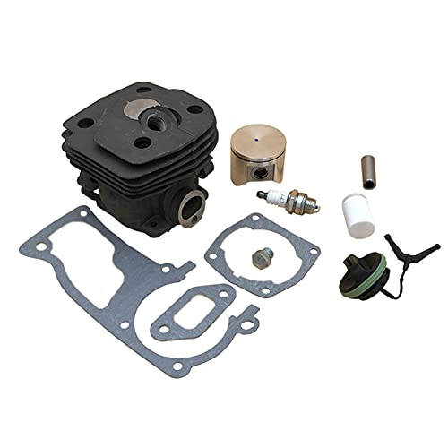 HCO-YU Kit de filtro de combustible de cilindro de 47 mm de cilindro Kit de filtro de combustible para Husqvarna 359 357 XP 357xp Motor de motosierra de gasolina Partes del motor 537 15 73-02 pistón d