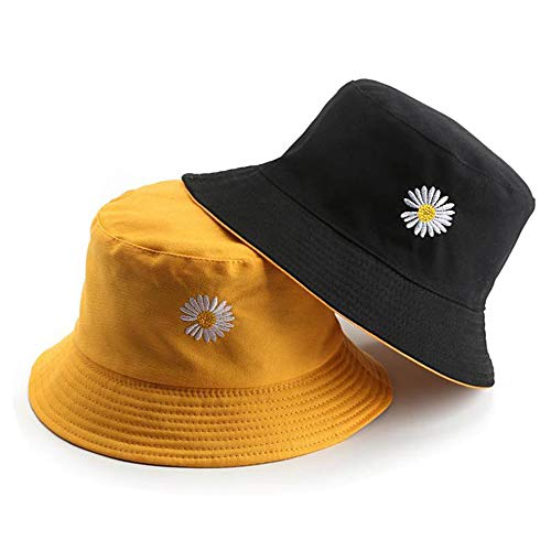 Fashion Daisies Print Bucket Hat, Unisex Summer Fisherman Cap,Foldable...