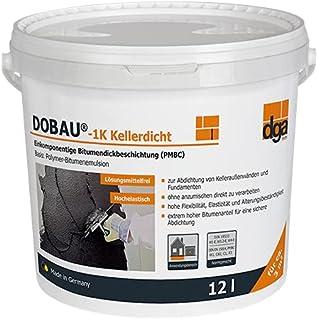 Dikke coating 1k emmer 12 l, kelderdicht, afdichting, bitumen,