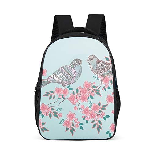Fineiwillgo Mochila con diseño de flores japonesas, mochila de senderismo, para estudiantes y vacaciones, color gris brillante, talla única
