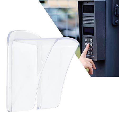 Velaurs Regenschutz aus Kunststoff, Regenschutz aus Türklingel, Regenschutz aus Zugangskontrolle für Doorbells-Villen