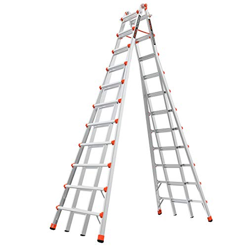 Little Giant Ladders, SkyScraper, M21, 11-21 Foot, Stepladder, Aluminum, Type 1A, 300 lbs Weight...