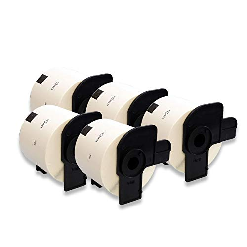 DOREE Rollos de etiquetas de dirección DK-11202 DK11202 compatibles con Brother DK-11202 DK11202 – 62 mm × 100 mm para Brother P-Touch QL-500 QL-550 QL-570 QL-700 QL-800 (300 etiquetas por rollo).