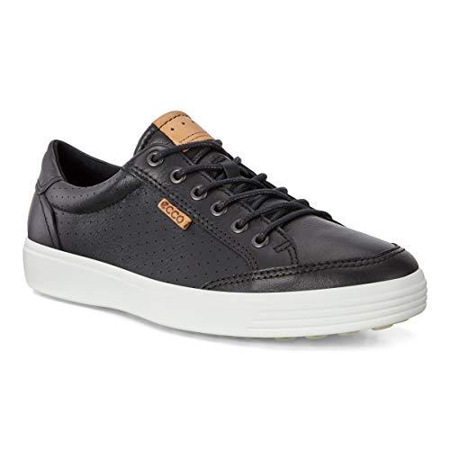 ECCO Men's Soft 7 Light Sneaker, Black Perforated, 45 M EU (11-11.5 US)
