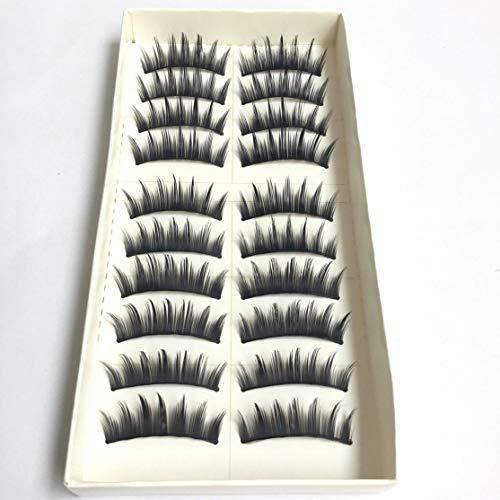 20pcs / set Haute Qualité À La Main Femmes Dame Mode Naturel Faux Cils Doux Long Eye Lash Cosmétique Beauté Outils