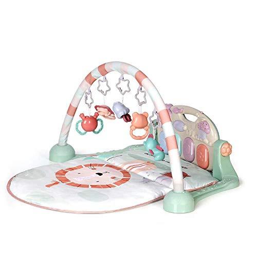 N/Z Home Equipment Baby Play Piano Gym Baby Music Fitness Rack 0 3 años Manta para Juegos de educación temprana para niños con Material PP (Color: Lion Tamaño: 75x55x44cm)