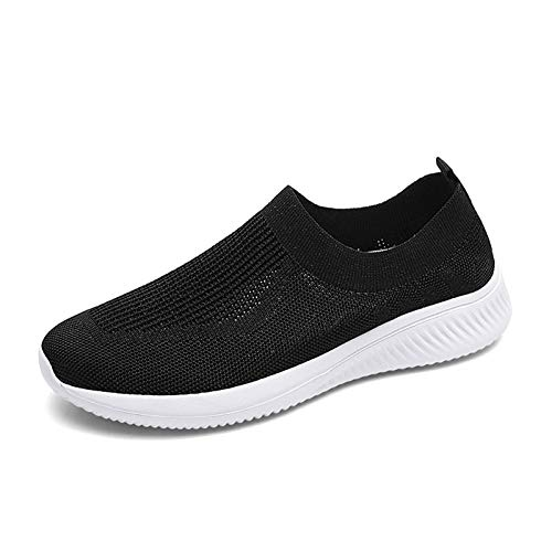 FUJEAK Womens Trail Running Shoes Slip On Breathable Mesh Walking Shoes Women Fashion...