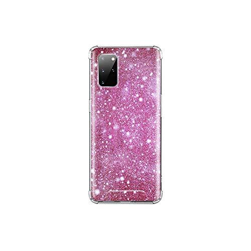 Funda para Samsung Galaxy S20 FE S10 S8 S9 Plus S10e Note 10 Lite 9 20 Ultra Airbag Funda Suave Rosa Bling-A01-para S20 Ultra 5G
