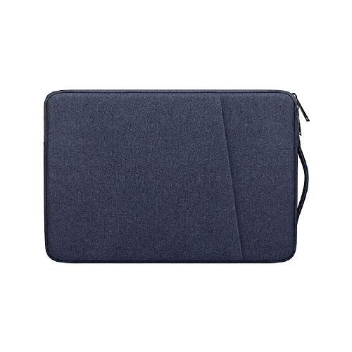 Laptop Sleeve Compatible with 13 Inch MacBook Air and MacBook Pro, 13-13.3 Inch Computer Notebook Case, Waterproof Shock Resistant Tablet iPad Case Bag with Handle and Pocket, Navy Blue