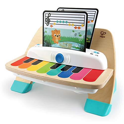 Oferta de Baby Einstein, Hape Magic Touch Piano, juguete musical de madera, incluye 3 partituras y 6 canciones, a partir de 6 meses