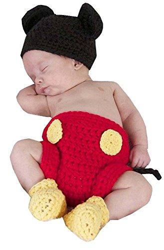 SAMGU Neugeborene Fotografie Prop Baby Kostüm niedlich Crochet Strickmütze Cap Mädchen Jungen Windel Schuhe