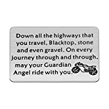 FUSTYLE Jeep Gift Drive Safe Keychain May Your Guardian Angel Ride with You Jeep Lover Gift (Biker Wallet Insert B)